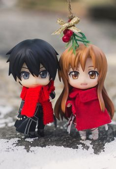 Sword Art Online Christmas ornaments. Just so darn cute