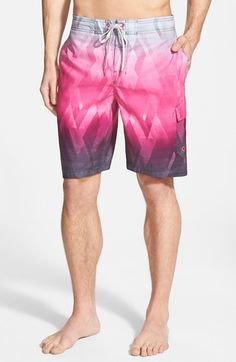 Speedo Fractal Diamond Print Swim Trunks available at Men Shorts, Swim Shorts, Summer Things, Summertime Sadness, Blue Suede Shoes, Male Style, Surf Wear, Beach Look, Color Stories