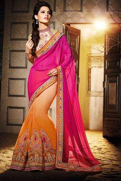 Orange crème et rose Georgette Saree avec de la soie d'art Blouse crème , orange et rose sari georgette avec l'art de la crème chemisier de soie . Agrémentée brodé , Zari et de la pierre . Saree est livré avec chinois blouse col . Produit sont disponibles en tailles 34,36,38,40 . Il est parfait pour vêtements de sport , vêtements de fête , l'usure du parti et de l'usure de mariage .  http://www.andaazfashion.fr/cream-orange-and-pink-georgette-saree-with-art-silk-blouse-dmv8285.html
