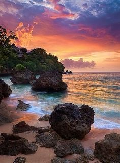 Bali This almost looks unreal. Look at those beautiful colors at how well they blend.