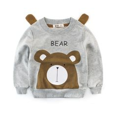 Cartoon Printing Boys Cotton Warm Sweatshirts Tops For is cheap, come to NewChic and buy the best kids tops & T-shirt now! Stylish Kids Fashion, Kids Fashion Boy, Girls Summer Outfits, Kids Outfits, Boys Suit Sets, Boys Hoodies, Sweatshirts, Kids Tops, Sweatshirt Outfit