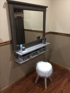 diy floating makeup vanity. My DIY Floating Makeup Vanity The Only Thing Not From Hobby Lobby Is My  Mirror Vanities Floating Makeup Vanity Shelf Ideas