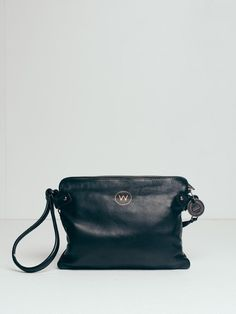 The Venetian Cross Body Passport Travel Clutch - black
