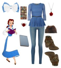 """""""Belle at school"""" by hazelvictoria ❤ liked on Polyvore featuring Cashhimi, Frame Denim, Pilot, Samsung, Bling Jewelry, claire's, Disney, CAT Footwear and Postalco"""