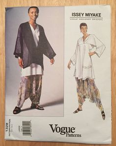 Vogue sewing pattern Issey Miyake #1328 jacket, top, pants, size 16-18, uncut bid 80+3 2/26/16