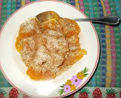 Ideia de lanche rápido e saudável com laranja farelo de aveia e canela