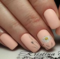 Are you looking for peach acrylic nails design? See our collection full of peach acrylic nails designs and get inspired! Peach Acrylic Nails, Peach Nails, Daisy Nails, Acrylic Nail Designs, Nail Art Designs, Nails Design, Trendy Nails, Cute Nails, Nagellack Design
