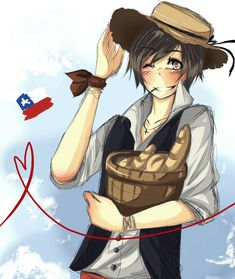LH: Corazon de chileno by Fuko-chan on DeviantArt Latin Hetalia, Types Of Boyfriends, Love Illustration, Country Art, Axis Powers, Latin America, Fantasy World, Wallpaper, Fan Art