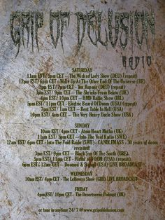 Grip Of Delusion Radio | 24/7 Streaming the finest sounds from the heavy underground