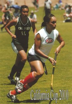 Amanda playin field hockey