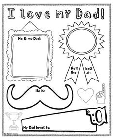 Father's Day poster for your bulletin boards, and later, Dad's fridge!