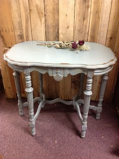 Antique table painted, distressed, shabby! Check out more at cherrypickersinc.com or on FB