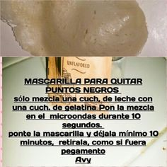 Mascarilla para quitar puntos negros Quites, Healthy Life, Tips, How To Make, Beauty, Black Dots, Hairdos, Make Up, Projects