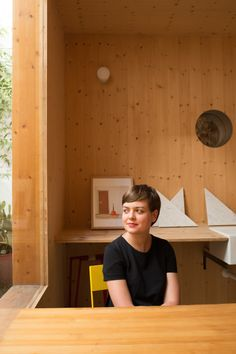 "The ""Kitchenless"" House: A Concept for the 21st Century, Anna Puigjaner in her office in Barcelona. Image © Cati Bestard"