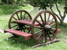 Picnic Table....the cabin needs this for sure!!!!     Rustic Patio & Garden Furniture