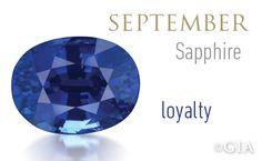 GIA Celebrates Birthstones – Sapphire, Token of Loyalty.
