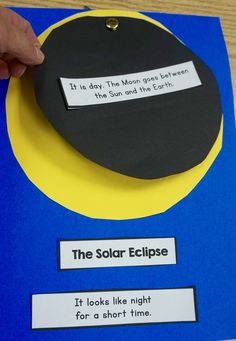 Easy craft to show little kids how a solar eclipse happens