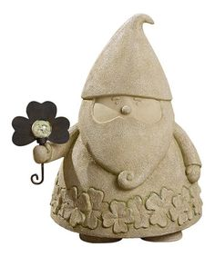 This Flower Garden Gnome Figurine is perfect! #zulilyfinds. I think he would make a lovely addition to the garden.
