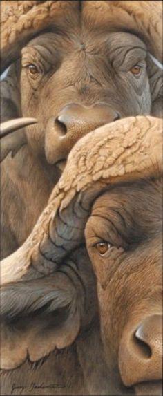 Wildlife Paintings, Wildlife Art, Animal Paintings, African Buffalo, Interesting Animals, Africa Art, Animal 2, Animal Totems, All Gods Creatures