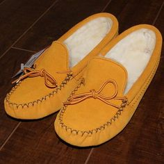 Authentic Men's Indian Tan Genuine Suede Leather Moccasin Slippers - 142
