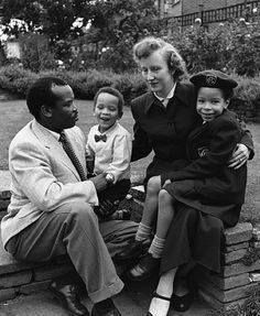Throwback Thursday!  The 1st President of Botswana didn't care what people thought about his interracial family! #interracialcouple #TBT