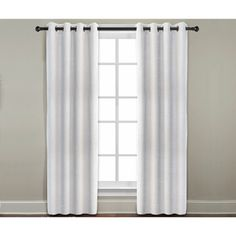 "Grand Luxe Pearl All Linen Gotham Grommet Window Panel.  108""  Machine Washable."