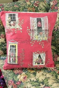 Oh so shabby cottage pillow!