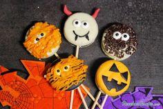 Piruletas de chocolate para Halloween #Halloween #RecetasDivertidas #RecetasparaHalloween