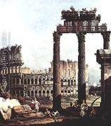 Capriccio with the Colosseum 1743-44  by Bernardo Bellotto (Canaletto)