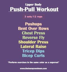 Push/Pull Upper Body Workout.