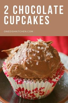 You'll love this easy and delicious small batch chocolate cupcake recipe! These cupcakes are light and tender and topped with a rich, luscious chocolate buttercream frosting. This wonderful recipe will yield TWO of the best tasting chocolate cupcakes. Easy Chocolate Cupcake Recipe, Best Chocolate Cupcakes, Chocolate Buttercream, Buttercream Frosting, Summer Dessert Recipes, Delicious Desserts, Candy Recipes, Cupcake Recipes, Slushie Recipe
