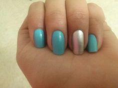light blue nails #lightblue #gray #naildesigns
