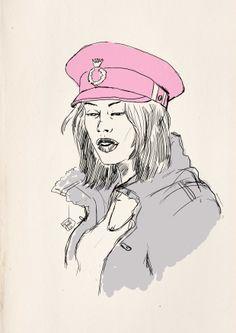 PinkHat_Girl sketch by OnurDemir