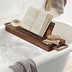 Personalized Bath Caddy – Treat them to a spa day at home with this adjustable bath caddy that provides the perfect resting spot for a class of wine among the bubbles. $59.00