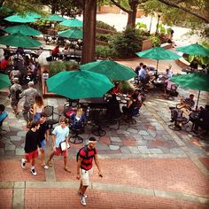 Happy first day of classes. It's a great day to enjoy the Russell House Patio.