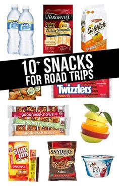 Our must-have snacks for road trips! Is a road trip the same without munchies? l snacks for road trips Snacks Road Trip, Road Trip Packing, Travel Packing, Snacks For The Road, Road Trip Tips, Car Snacks, Sports Snacks, Packing Lists, Bag Essentials