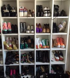 7 creative ideas to store shoes in small spaces - Bedroom organization - Zapatos Small Space Bedroom, Small Spaces, 1000 Life Hacks, Shoe Rack, Projects To Try, Style Inspiration, Storage, Home Decor, Vix