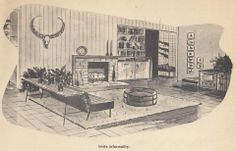 Vintage House Plans, Fireplaces, Mid Century