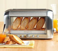 magimix vision toaster - the only toaster with a viewing window that lets you watch the toasting process in action. fun!