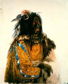 Piegan Chief, by Karl Bodmer