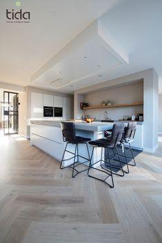 Visgraat Bauwerk Quadrato B-Protect Crema Interior Design Tips, Interior Design Living Room, Rustic Kitchen Design, Kitchen Styling, Room Decor Bedroom, Interiores Design, Kitchen Interior, New Homes, House Design