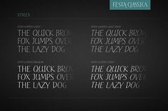 Festa Classica Family - Display Greek Font, Handwritten Type, Graphic Design Typography, Republic Of The Congo, Script, Lettering, Video Tutorials, Art, Party