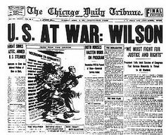 The Chicago Daily Tribune reporting about WWI