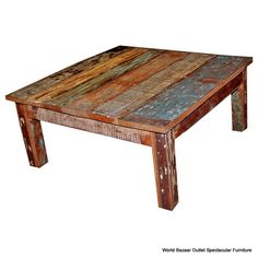 """Beautiful vintage & rustic round 40"""" coffee table made ..."""
