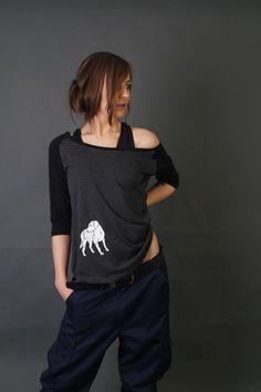 Ladies RaglanTee Contrast 3/4- Dogstyle Leichter Single-Jersey Neutrales Größenlabel ohne Branding, für Nackendruck geeignet Lang geschnitten 3/4 Raglan-Ärmel Doppelnähte am Saum Nackenband Ripp-Bündchen am Halsauschnitt Abgerundeter Saum Urbane Mode, Raglan, Contrast, T Shirt, Tops, Style, Fashion, Hemline, Textiles
