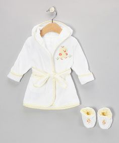 Love this SpaSilk White Duckling Terry Robe & Booties by SpaSilk on #zulily! #zulilyfinds