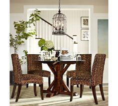 Pottery Barn's expertly crafted collections offer a widerange of stylish indoor and outdoor furniture, accessories, decor and more, for every room in your home. Bedroom Design Inspiration, Room Inspiration, Small Dining, Round Dining, Furniture Upholstery, Home Furniture, Side Chairs, Dining Chairs, Dining Rooms