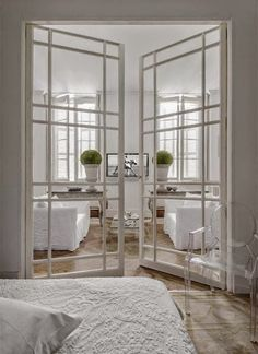 sort of the pattern for trimming kitch doors these are lovely interior doors glass doors with grids - French Doors Interior