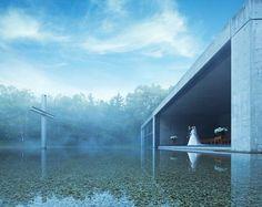 安藤忠雄が設計した「水の教会」が、幻想的すぎる・・・