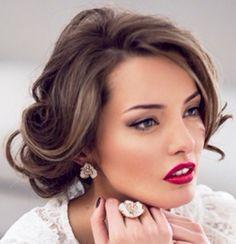 Beautiful updo and makeup
